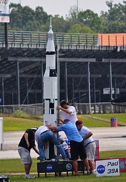 dragway Saturn V setup