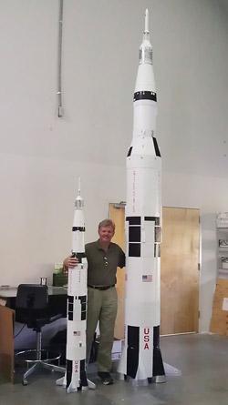 Saturn V model rockets